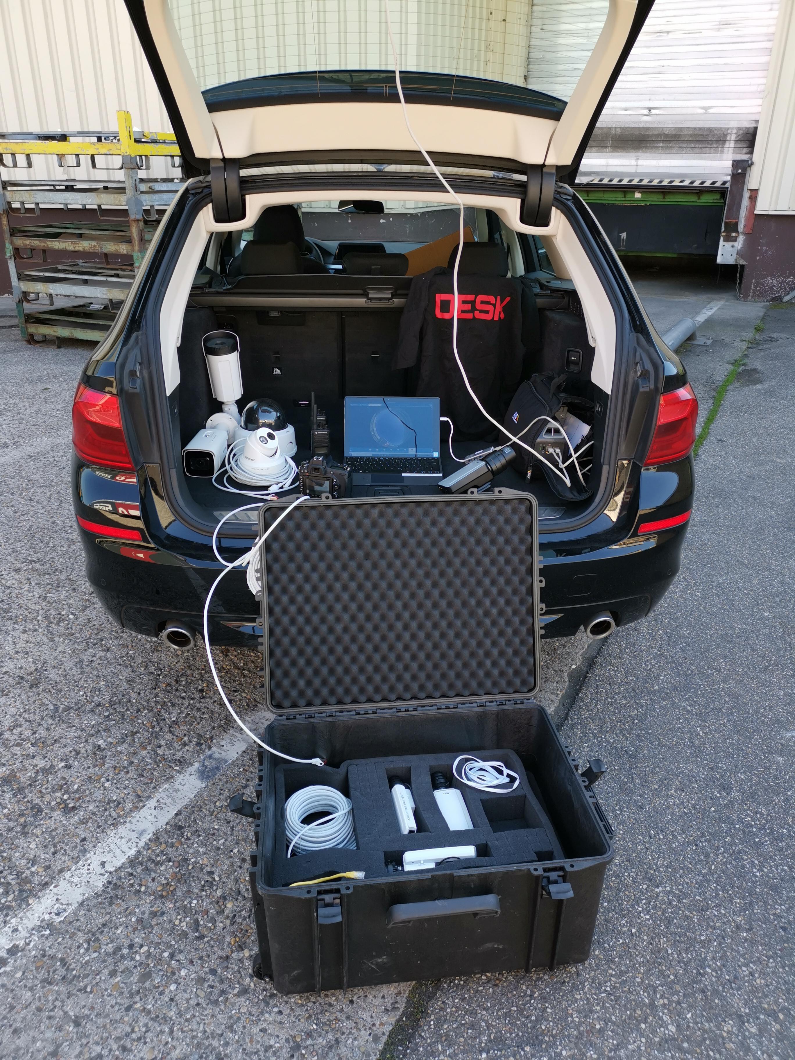 mobile Videoüberwachung Raum Karlsruhe und Frankfurt am Main DESK Sicherheit